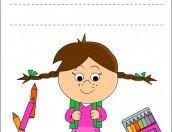 Copertina quaderno Il primo giorno di scuola per le bambine (New)