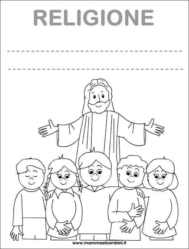copertina religione da colorare