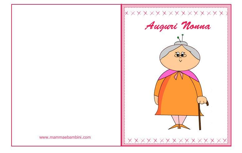 Auguri Matrimonio Nonna : Biglietto auguri per la festa dei nonni mamma e bambini