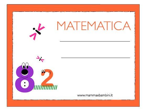 etichetta matematica