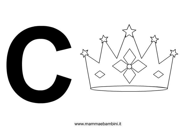 Lettere alfabeto con disegni: C