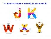 Le 5 lettere straniere da stampare e colorare