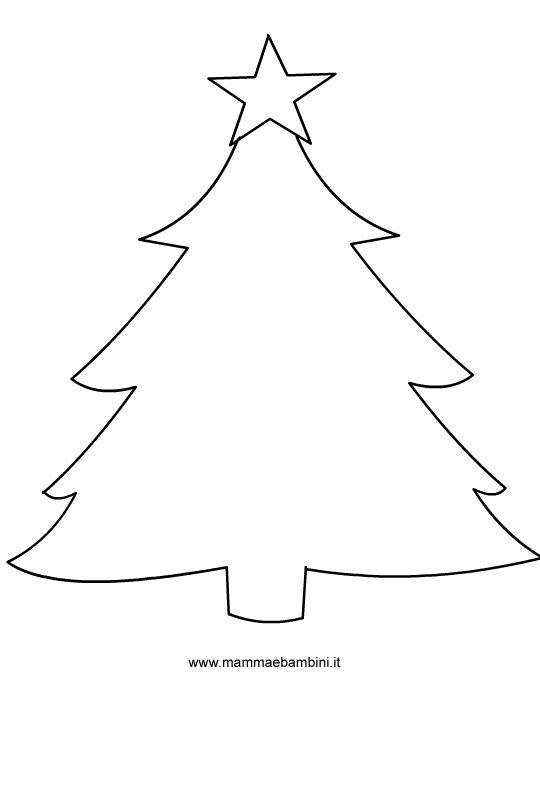 Albero Natale Da Colorare Per Bambini.Sagome Per Natale Albero Di Natale Mamma E Bambini