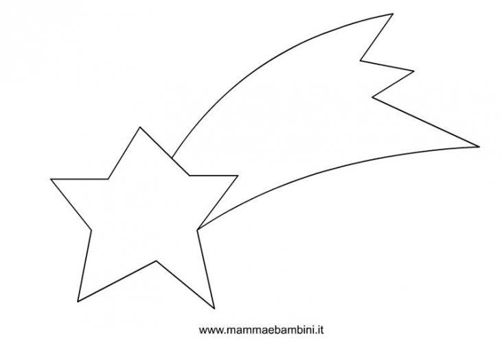 Disegnare Una Stella Di Natale.Sagome Per Natale Stella Cometa Mamma E Bambini