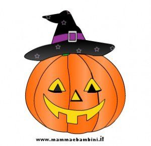 Disegni halloween da colorare cappelli streghe mamma e for Zucca di halloween disegno