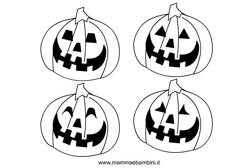Halloween disegni zucche da colorare mamma e bambini for Disegni da stampare colorare e ritagliare