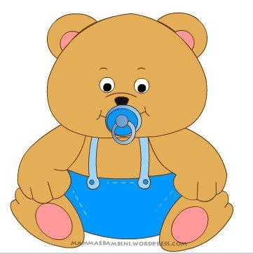 Il ciuccio indispensabile per i bambini mamma e bambini for Disegno orso per bambini