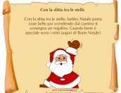 """Poesia Natale con cornice """"Con la slitta tra le stelle"""""""