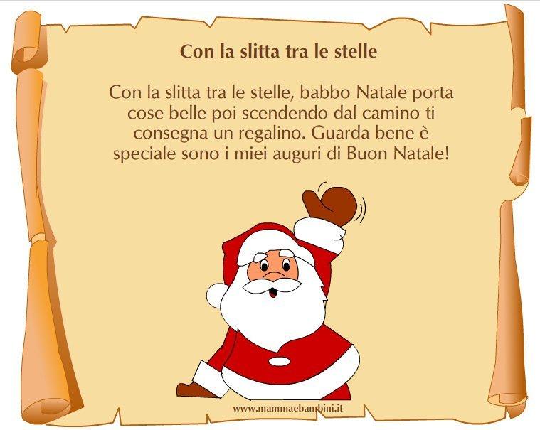 Filastrocca Di Babbo Natale.Poesia Natale Con La Slitta Tra Le Stelle Mamma E Bambini