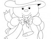 Disegno Pupazzo Con La La Scritta Inverno Mamma E Bambini