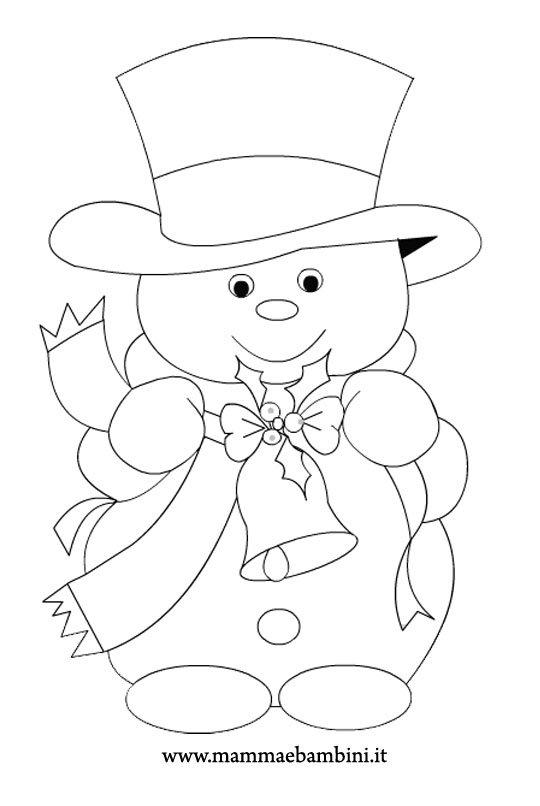 Natale disegni da colorare n 1 mamma e bambini - Munecos de nieve para dibujar ...