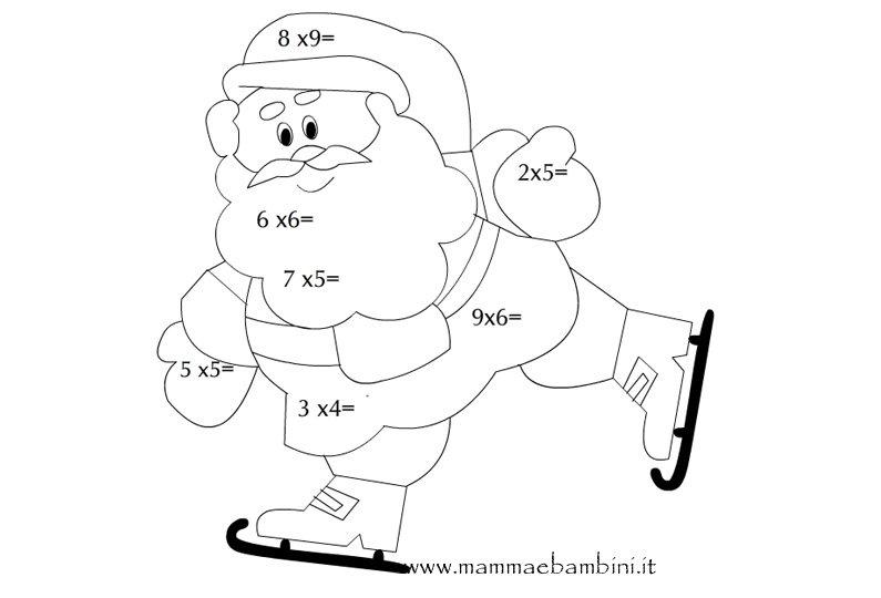 Babbo Natale Moltiplicazioni Mamma E Bambini