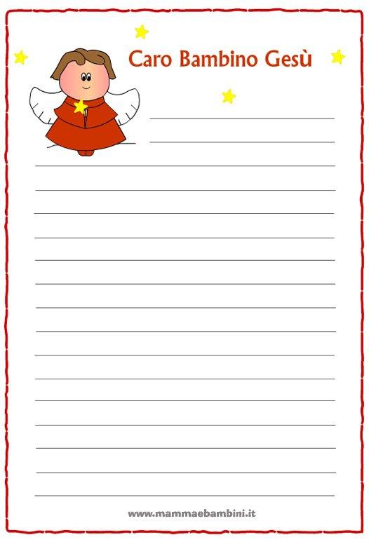 Letterine di Natale da stampare