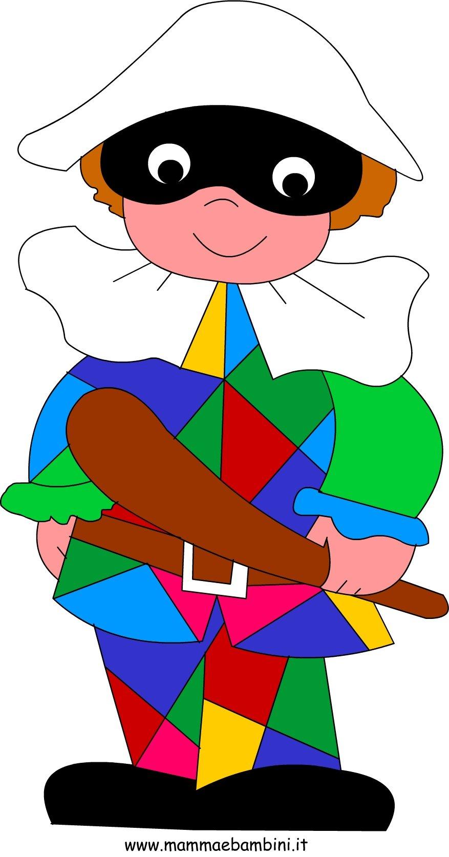 Arlecchino Disegni Carnevale Da Colorare Mamma E Bambini