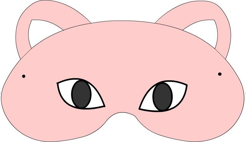 maschera gatta rosa