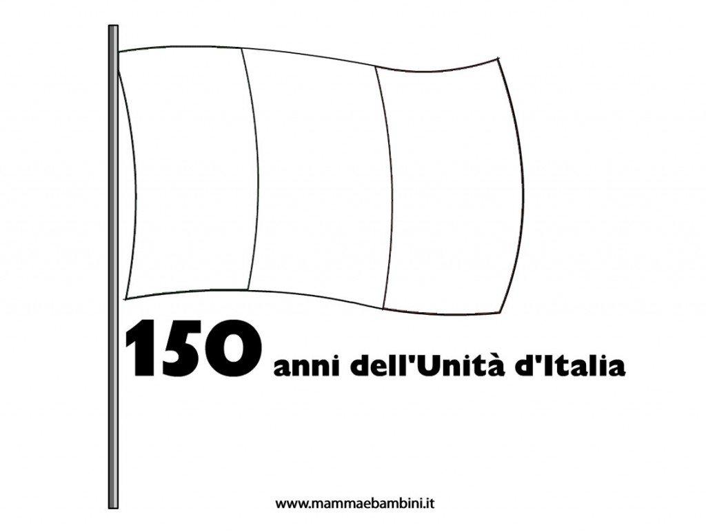 Bandiera Italiana Per 150 Anni Dellunità Ditalia Mamma E Bambini