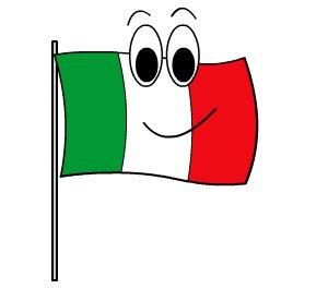 Bandiera Italiana Per 150 Anni Dell Unità D Italia Mamma E Bambini