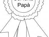 Festa del papà: una coccarda da colorare