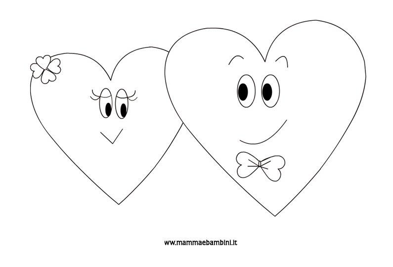 Disegni da colorare cuori mamma e bambini for Disegni di cuori da stampare gratis