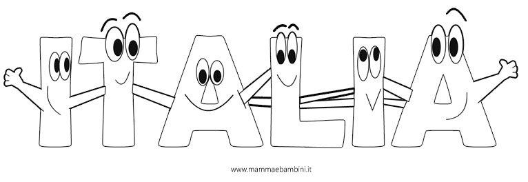150 Anni Dellunità Ditalia Disegno Italia Da Stampare Mamma E