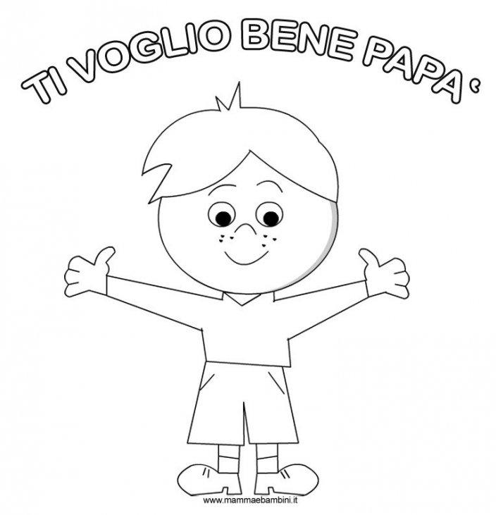 Disegno Per Festa Del Papà Da Stampare E Colorare Mamma E