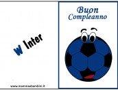 Biglietto compleanno Inter da stampare