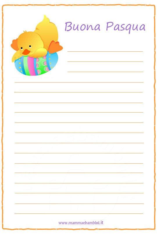 Pasqua carta lettere da stampare mamma e bambini - Lettere stampabili del coniglietto di pasqua ...