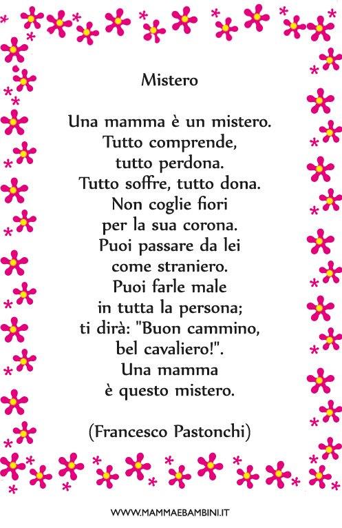 Poesia Che cos'? una mamma