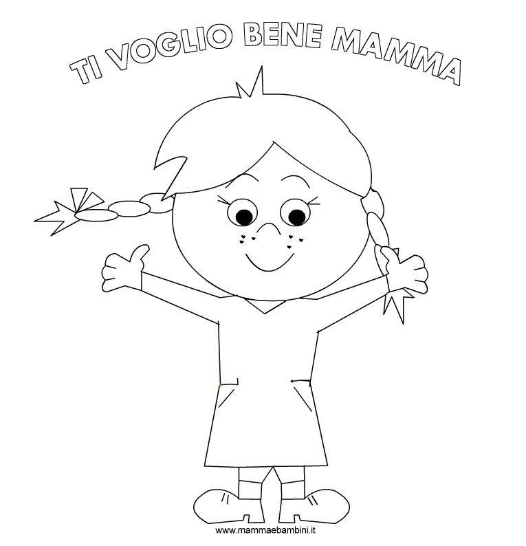 Disegni Da Colorare Per La Festa Della Mamma Mamma E Bambini