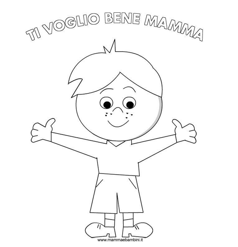 Disegno Bambino Da Colorare.Disegni Da Colorare Per La Festa Della Mamma Mamma E Bambini
