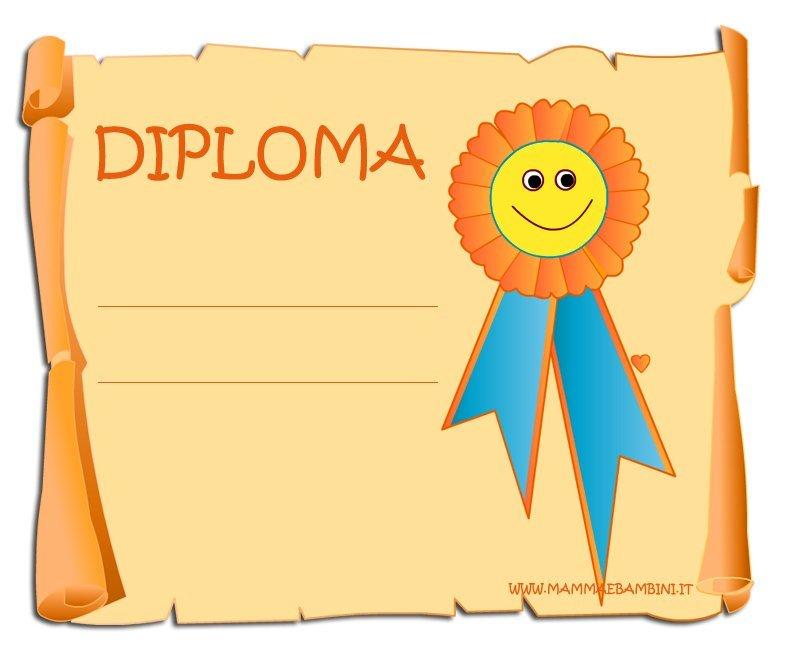 Diploma Da Stampare Generico Mamma E Bambini