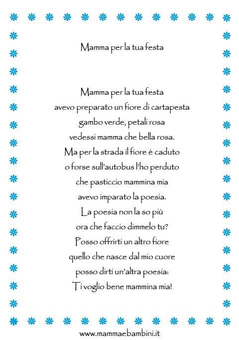 Filastrocca Mamma Per La Tua Festa Mamma E Bambini