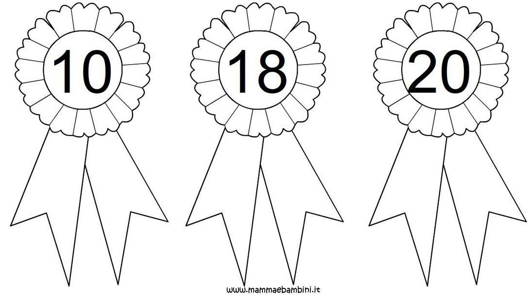 Coccarde con i numeri da stampare mamma e bambini - Numeri per tavoli da stampare ...