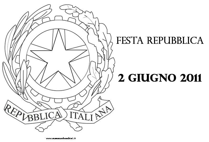 Emblema Della Repubblica Italiana Da Stampare E Colorare Mamma E