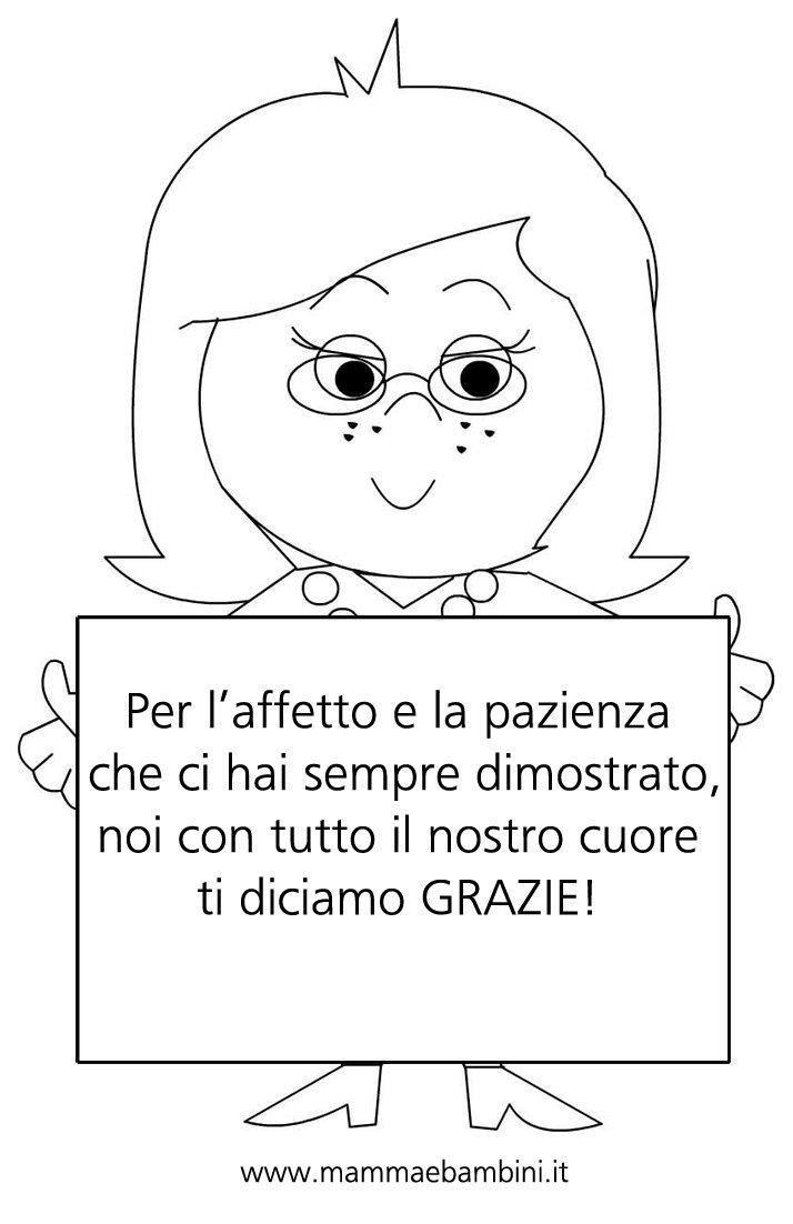 Targa Per La Maestra Con Dedica Mamma E Bambini