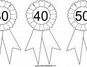 Coccarda da stampare con numeri