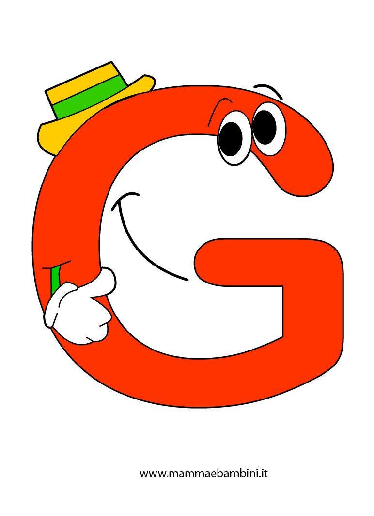 Alfabetiere da stampare e colorare: la G