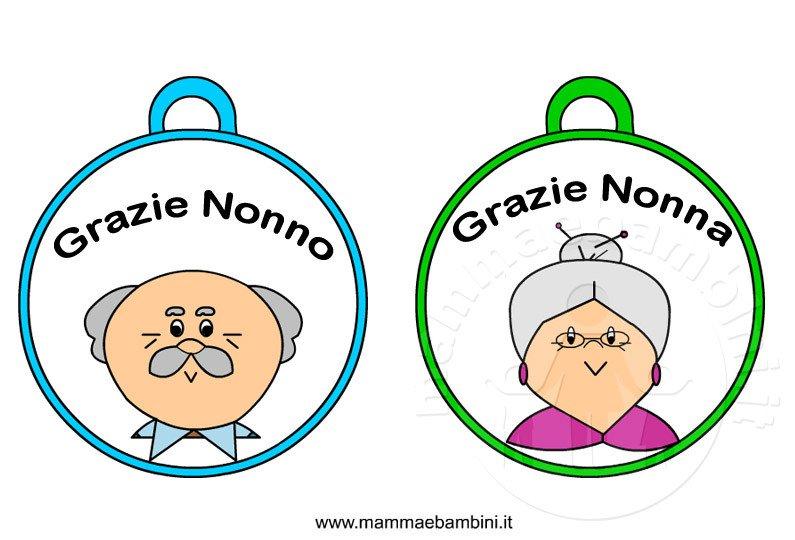 Festa dei nonni: medaglie da ritagliare