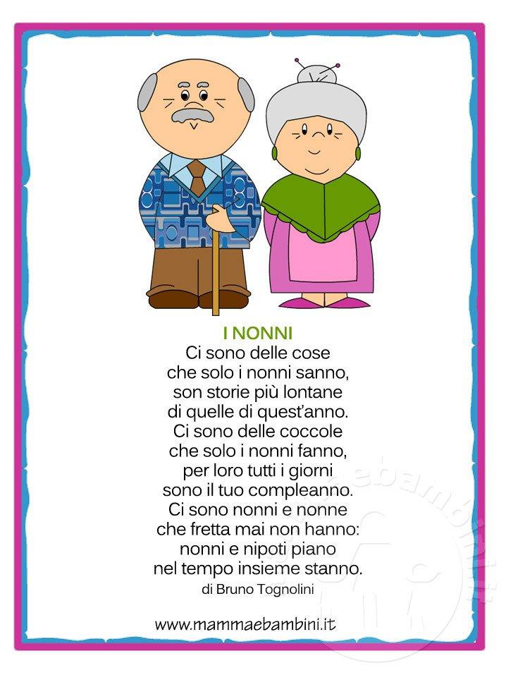 Auguri Matrimonio Dai Nonni : Poesia sui nonni in cornice da regalare mamma e bambini