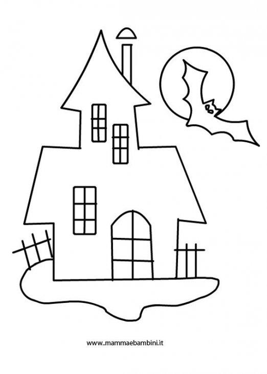 a81b9e3b98 Casa fantasma Halloween da colorare - Mamma e Bambini