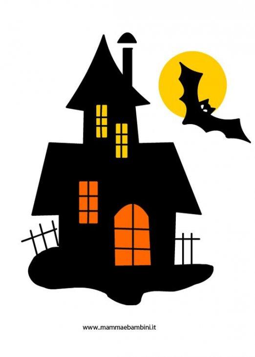 ed1eeffd72 Disegno casa Halloween da stampare - Mamma e Bambini