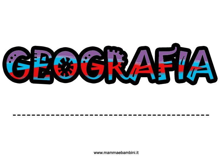 Copertine colorate per quaderni: geografia