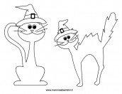 Gatti da colorare per Halloween