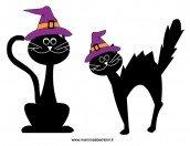 Gatti da stampare per Halloween