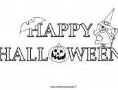Scritta Happy Halloween da colorare