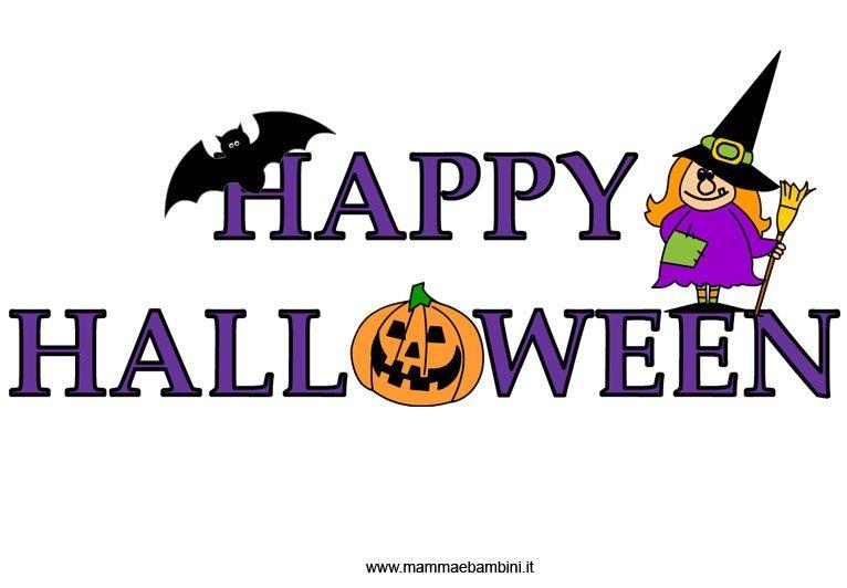 Scritta happy halloween da stampare mamma e bambini for Immagini halloween da colorare e stampare