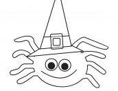 Halloween disegno ragno da colorare