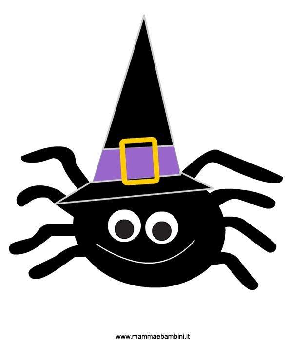 disegno ragno halloween