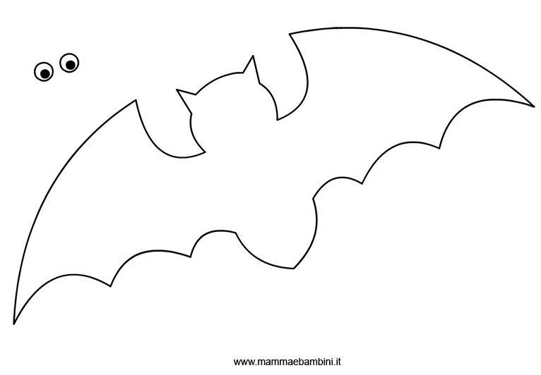 Disegni Da Colorare Pipistrelli.Sagoma Pipistrello Da Ritagliare Mamma E Bambini