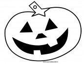 Zucca Halloween da colorare per bambini